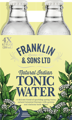 Picture of FRANKLIN TONICS & MIXERS INDIAN TONIC 4X20CL